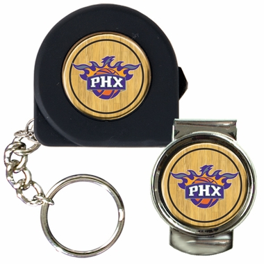 Phoenix Suns Tape Measure Key Chain and Money Clip Set
