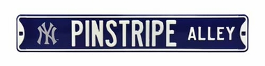 Pinstripe Alley Street Sign