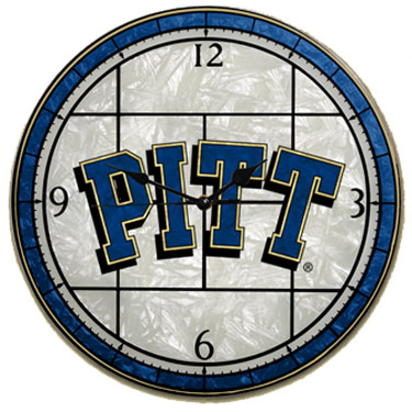 Pitt Art Glass Clock