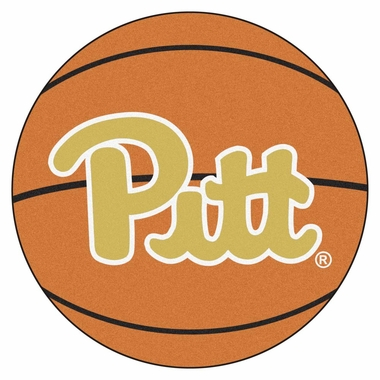 Pitt 27 Inch Basketball Shaped Rug