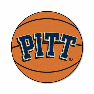 Pitt Basketball Shaped Rug