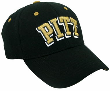 Pitt Black Premium FlexFit Baseball Hat