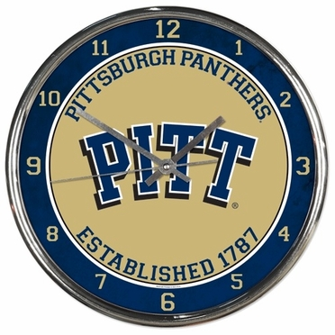 Pitt Chrome Clock
