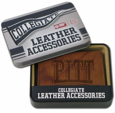 Pitt Embossed Leather Trifold Wallet