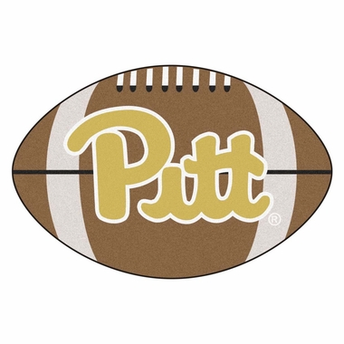 Pitt Football Shaped Rug