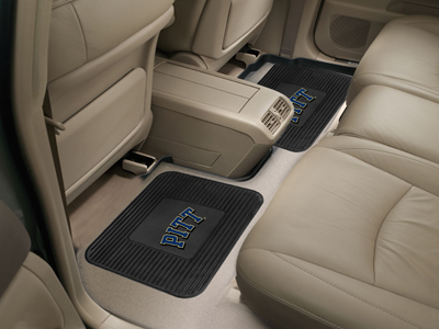 Pitt SET OF 2 Heavy Duty Vinyl Rear Car Mats