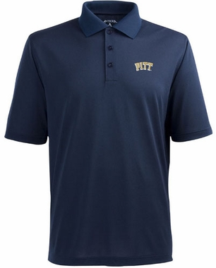 Pitt Mens Pique Xtra Lite Polo Shirt (Team Color: Navy)