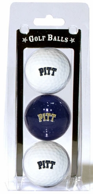 Pitt Set of 3 Multicolor Golf Balls