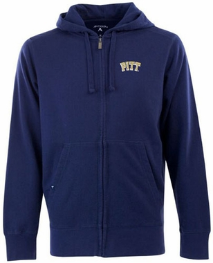 Pitt Mens Signature Full Zip Hooded Sweatshirt (Team Color: Navy)