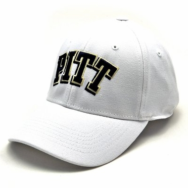 Pitt White Premium FlexFit Hat