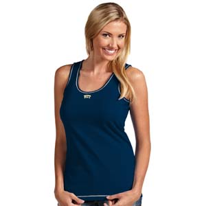 Pitt Womens Sport Tank Top (Team Color: Navy) - X-Large