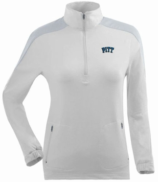Pitt Womens Succeed 1/4 Zip Performance Pullover (Color: White)
