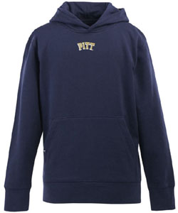 Pitt YOUTH Boys Signature Hooded Sweatshirt (Color: Navy) - Small