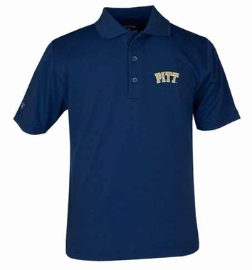 Pitt YOUTH Unisex Pique Polo Shirt (Color: Navy)