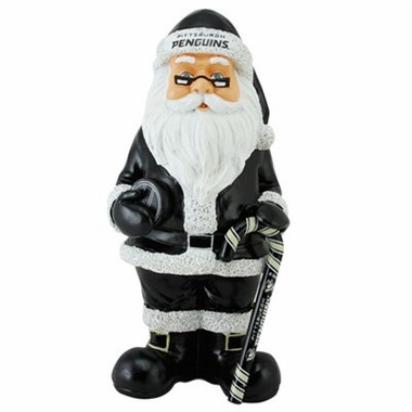Pittsburgh Penguins 11 Inch Resin Team Santa Figurine