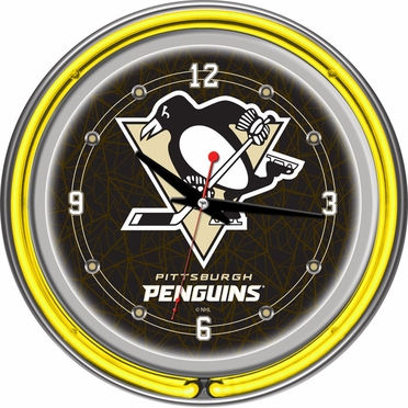 Pittsburgh Penguins 14 Inch Neon Clock