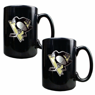 Pittsburgh Penguins 2 Piece Coffee Mug Set