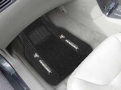 Pittsburgh Penguins 2 Piece Heavy Duty DELUXE Vinyl Car Mats