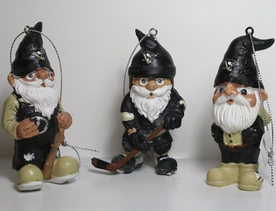 Pittsburgh Penguins 2012 Gnome 3 Pack Ornament Set