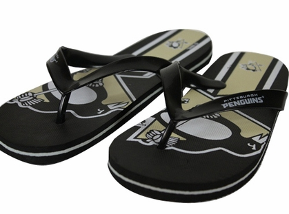 Pittsburgh Penguins 2012 Unisex Big Logo Flip Flops