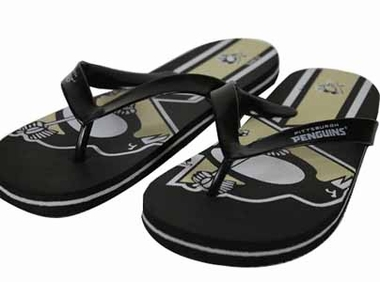 Pittsburgh Penguins 2012 Unisex Big Logo Flip Flops - Large