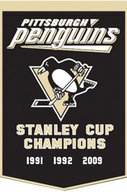 "Pittsburgh Penguins 24""x36"" Dynasty Wool Banner"