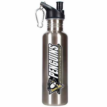 Pittsburgh Penguins 26oz Stainless Steel Water Bottle (Silver)