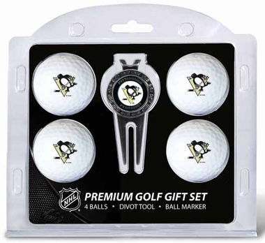 Pittsburgh Penguins 4 Ball and Tool Gift Set