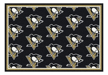 "Pittsburgh Penguins 5'4"" x 7'8"" Premium Pattern Rug"