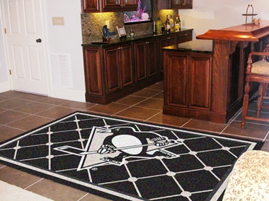Pittsburgh Penguins 5 Foot x 8 Foot Rug