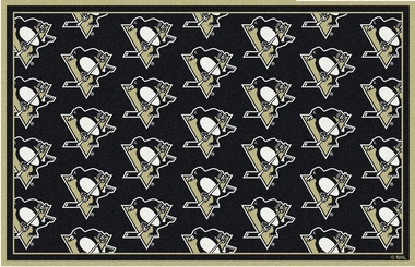 "Pittsburgh Penguins 7'8 x 10'9"" Premium Pattern Rug"