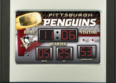 Pittsburgh Penguins Alarm Clock Desk Scoreboard