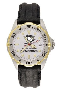 Pittsburgh Penguins All Star Mens (Leather Band) Watch