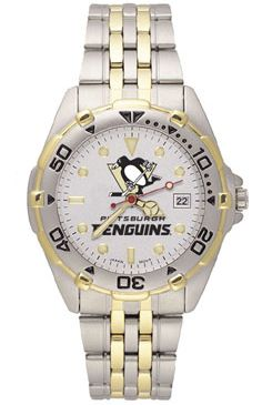 Pittsburgh Penguins All Star Mens (Steel Band) Watch