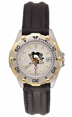 Pittsburgh Penguins All Star Womens (Leather Band) Watch
