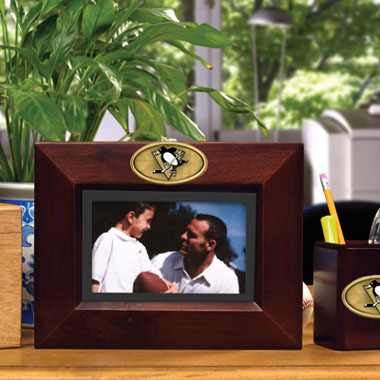 Pittsburgh Penguins BROWN Landscape Picture Frame