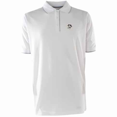 Pittsburgh Penguins Mens Elite Polo Shirt (Color: White)