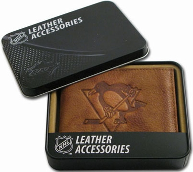 Pittsburgh Penguins Embossed Leather Bifold Wallet