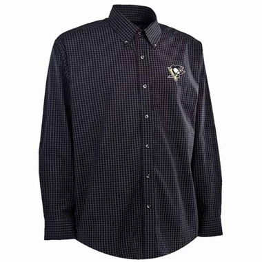 Pittsburgh Penguins Mens Esteem Button Down Dress Shirt (Team Color: Black)