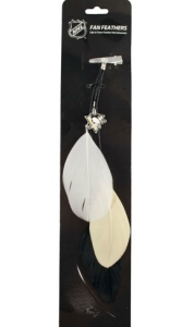 Pittsburgh Penguins Team Color Feather Hair Clip