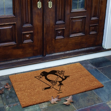 Pittsburgh Penguins Flocked Coir Doormat