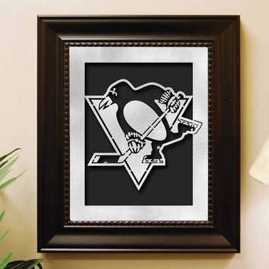 Pittsburgh Penguins Framed Laser Cut Metal Wall Art