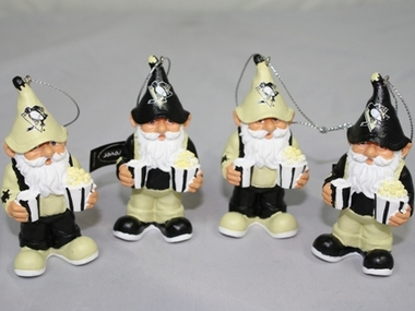 Pittsburgh Penguins Gnome Ornament 4 Pack