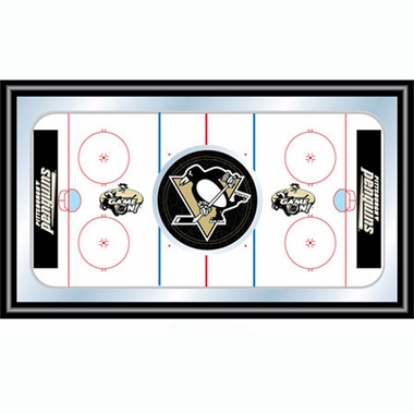 Pittsburgh Penguins Hockey Bar Mirror