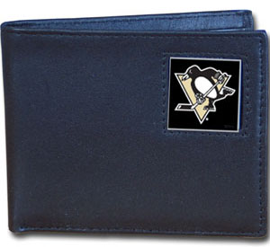 Pittsburgh Penguins Leather Bifold Wallet (F)
