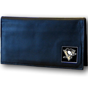 Pittsburgh Penguins Leather Checkbook Cover (F)