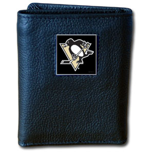 Pittsburgh Penguins Leather Trifold Wallet (F)