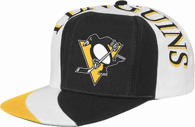 Pittsburgh Penguins Mitchell & Ness The Swirl Retro Vintage Snap Back Hat