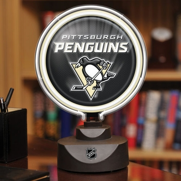 Pittsburgh Penguins Neon Display Puck