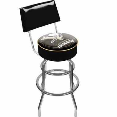 Pittsburgh Penguins Padded Bar Stool with Back